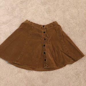 Brandy Melville burnt orange skirt